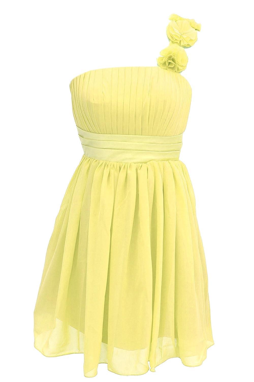 Dressystar Kurz Chiffon Gelb Brautjungfernkleid Gelb Größe 48