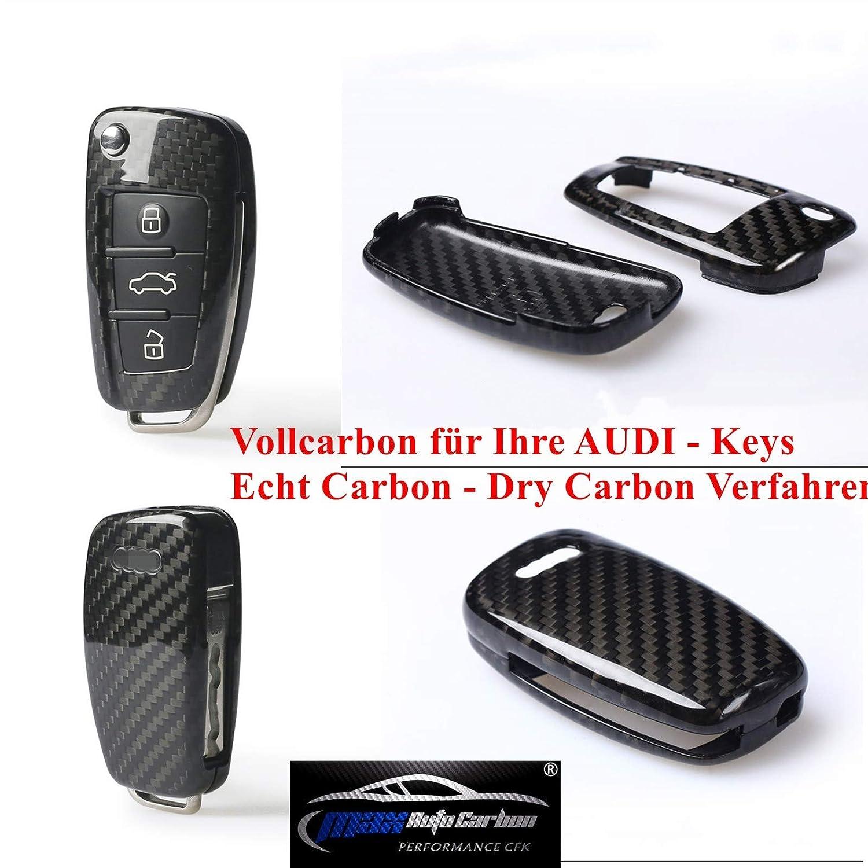Max Auto Carbon Cover in Carbonio per Chiave Audi A1A3A4A5A6 TT TTS Q2Q3Q5 S1S3S4S5 RS3RS4