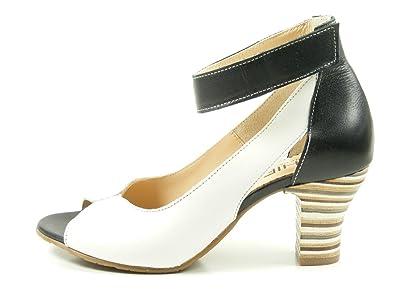 GHIBI A046 Schuhe Damen Sling Pumps Sandalen Peep Toe