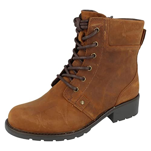 5389c81651f Clarks Orinoco Spice - Brown Warmlined Leather Womens Boots 7 UK E