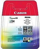 Canon - PG-40 & CL-41 - Cartouche d'Encre -  Multicolore