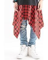 (バレッタ) Valletta チェック柄 巻きスカート メンズ 日本製
