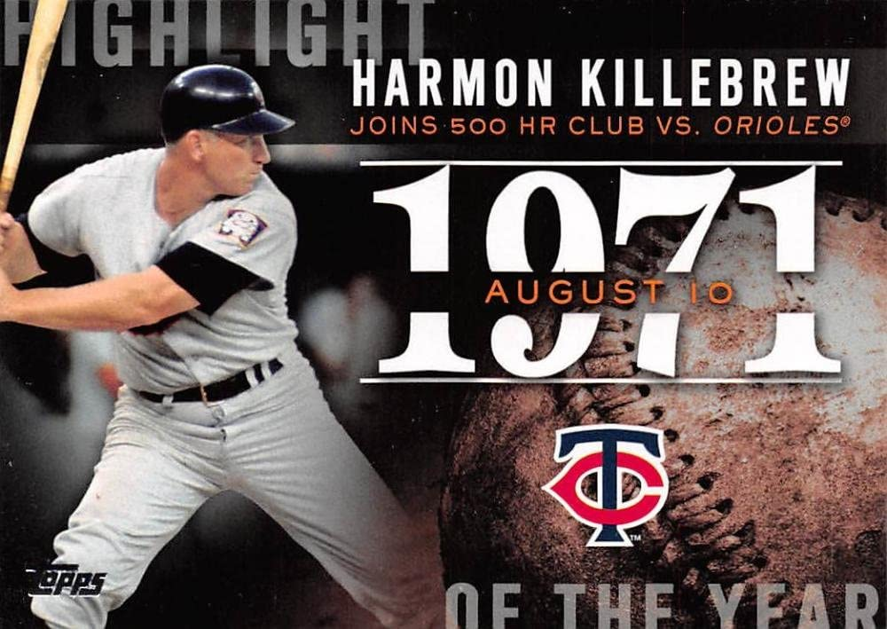 2015 Topps Update Highlight of the Year #H-74 Harmon Killebrew Twins Baseball Card NM-MT