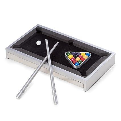 Amazoncom BeyBerk AJG Desk Top Aluminum Pool Table Silver - Aluminum pool table