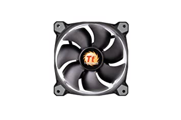 Thermaltake Riing 12 120mm White LED Ring Case//Radiator Fan CL-F038-PL12WT-A