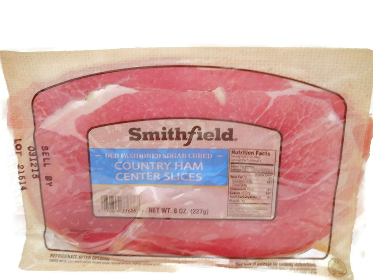 Smithfield Old Fashioned Country Ham Center Slices Pack 0f 3 Amazon