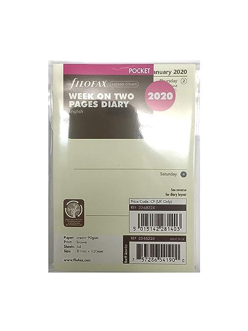 Amazon.com: FiloFax 68224-OS-2020 - Recambio para agenda de ...