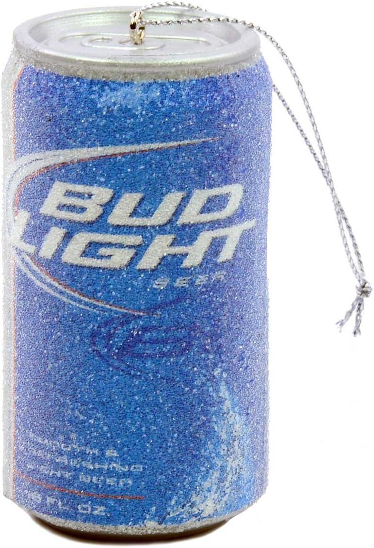 Kurt Adler Budweiser Bud Light Beer Can Christmas Ornament