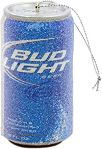 Kurt Adler Budweiser Bud Light Beer Can Christmas Ornament