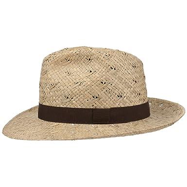7fcc9612456 Lipodo Classic Bogart Straw Hat Summer  Amazon.co.uk  Clothing