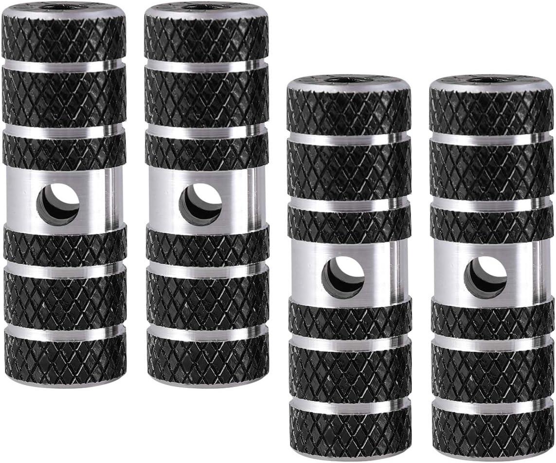 Negro Accesorios Deportivos LIOOBO 2 Pares de Clavijas de Acrobacias de Eje de Cilindro de Bicicleta de aleaci/ón de Aluminio para Bicicleta de Bicicleta de monta/ña