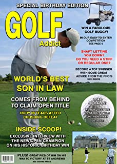 Golf Son In Law Birthday Card Magazine Spoof 8x55 Mix
