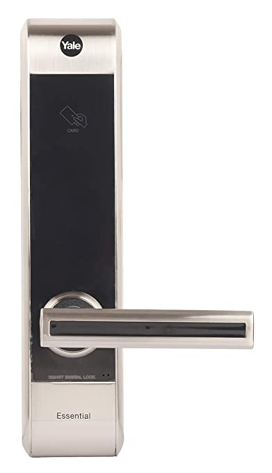 Yale YDME 70- RH Digital Door Lock with RFID Card, Pincode & Mechanical Key Access, Color- Silver, Right Hand Opening Door (Free Installation)