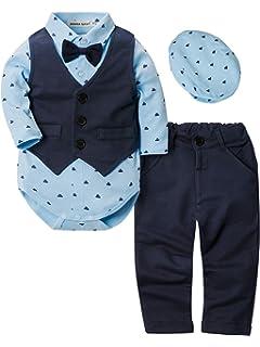 Fairy Baby Baby Boys 3pcs Traje Formal para niños pequeños ...