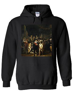 a029e0d1b0 The Night Watch Rembrandt Van Rijn Painting Novelty Black Men Women Unisex Hooded  Sweatshirt Hoodie-