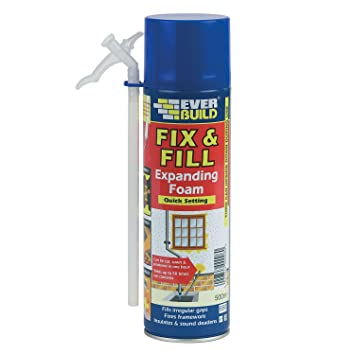 Everbuild Quick Setting Fix Fill - Espuma rellenadora y poliuretano, 500 ml, colorblanco: Amazon.es: Bricolaje y herramientas