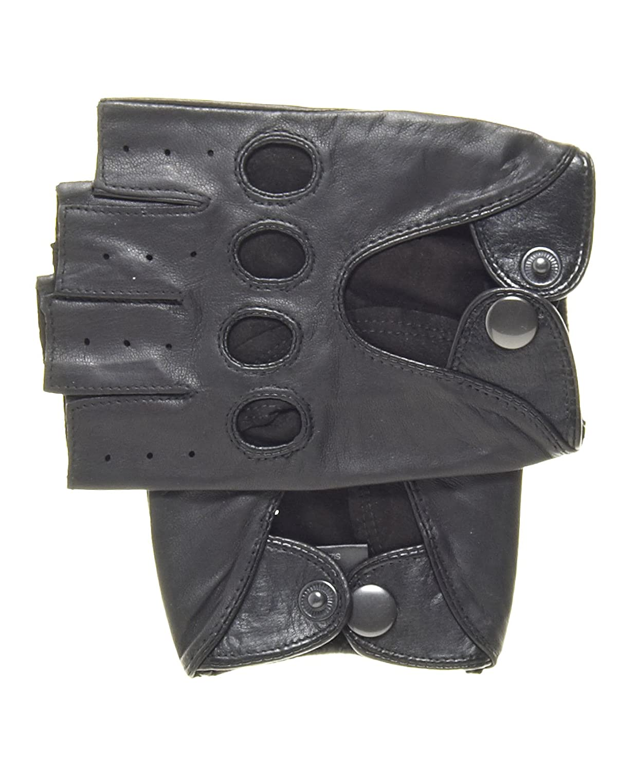 Black gloves online - Amazon Com Pratt And Hart Men S Shorty Leather Driving Gloves Fingerless Size S Color Black Clothing