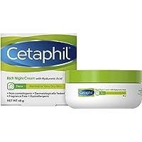 Cetaphil Rich Night Cream Facial Moisturiser with Hyaluronic Acid, 48 grams