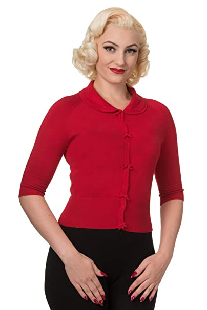 1950s Sweaters, 50s Cardigans, Twin Sweater Sets Banned Womens April Short Sleeve Cardigan $38.99 AT vintagedancer.com