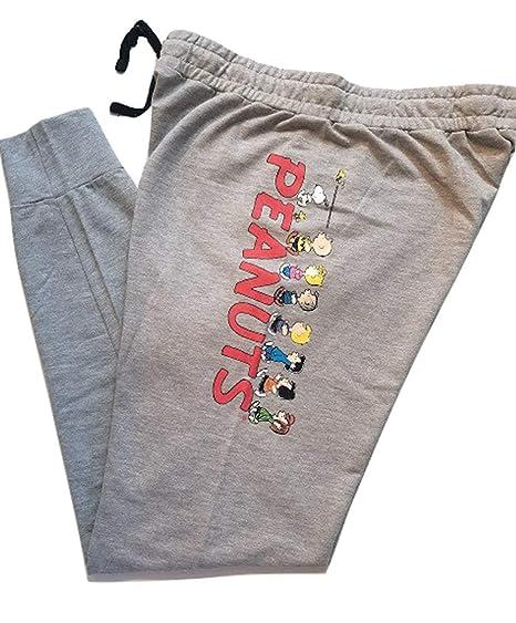 87b94e10686b57 Peanuts Snoopy Charlie Brown Woodstock Women's Juniors Jogger Pant Legging  Yoga Pants Grey - Grey -