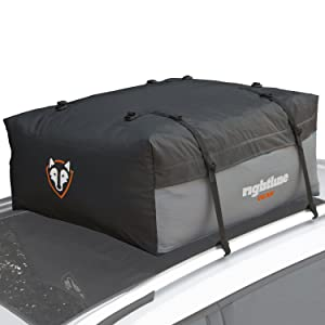 Rightline Gear Sport Jr Top Carrier, 9 cu ft Sized for Compact Cars, 100% Waterproof, Attaches With or Without Roof Rack