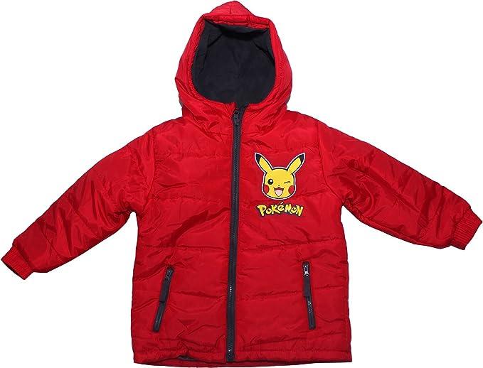 Pokemon Pikachu Winter Bomber Jacket Blue 4 Years