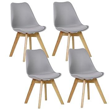 Woltu 4er Set Esszimmerstuhle Kuchenstuhl Design Stuhl