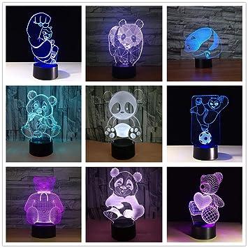 Panda y Oso Color Noche luz Mesa táctil para niños bebé sueño ...