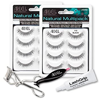 a86de20cd46 Ardell Fake Eyelashes 110 Value Pack - Natural Multipack 110 (Black, 2-Pack