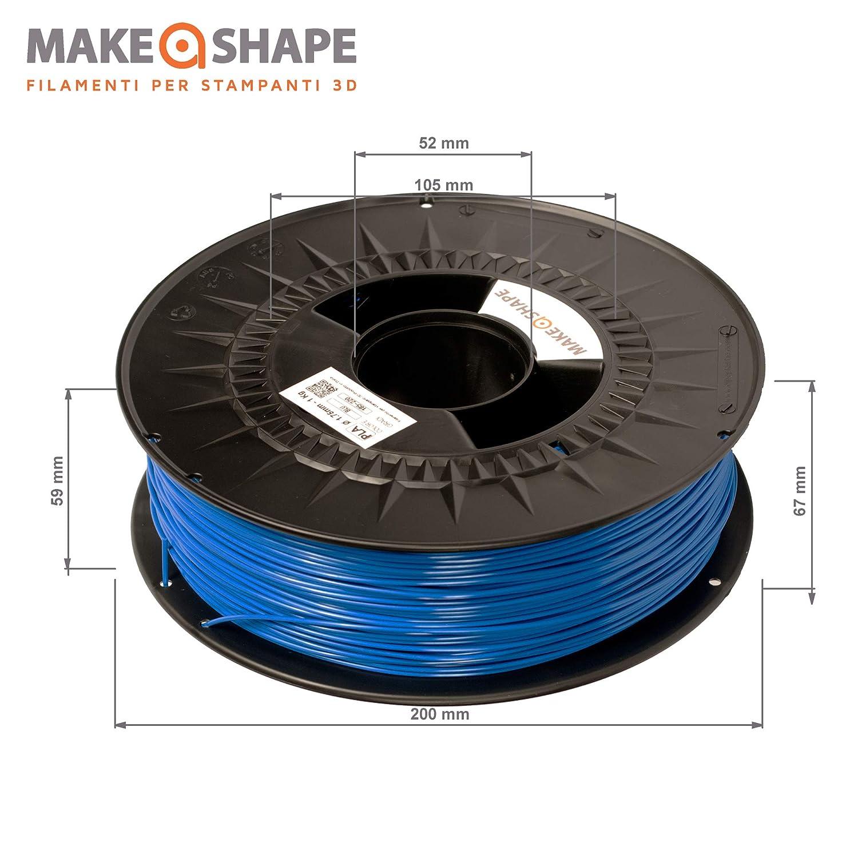 Make a Shape Filamento PLA azul para impresoras 3D 1,75 mm ...