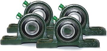 4 Stk UCP204 Stehlager 2-Loch Gehäuselager 20 mm Welle P203+UC203 Stehend ►
