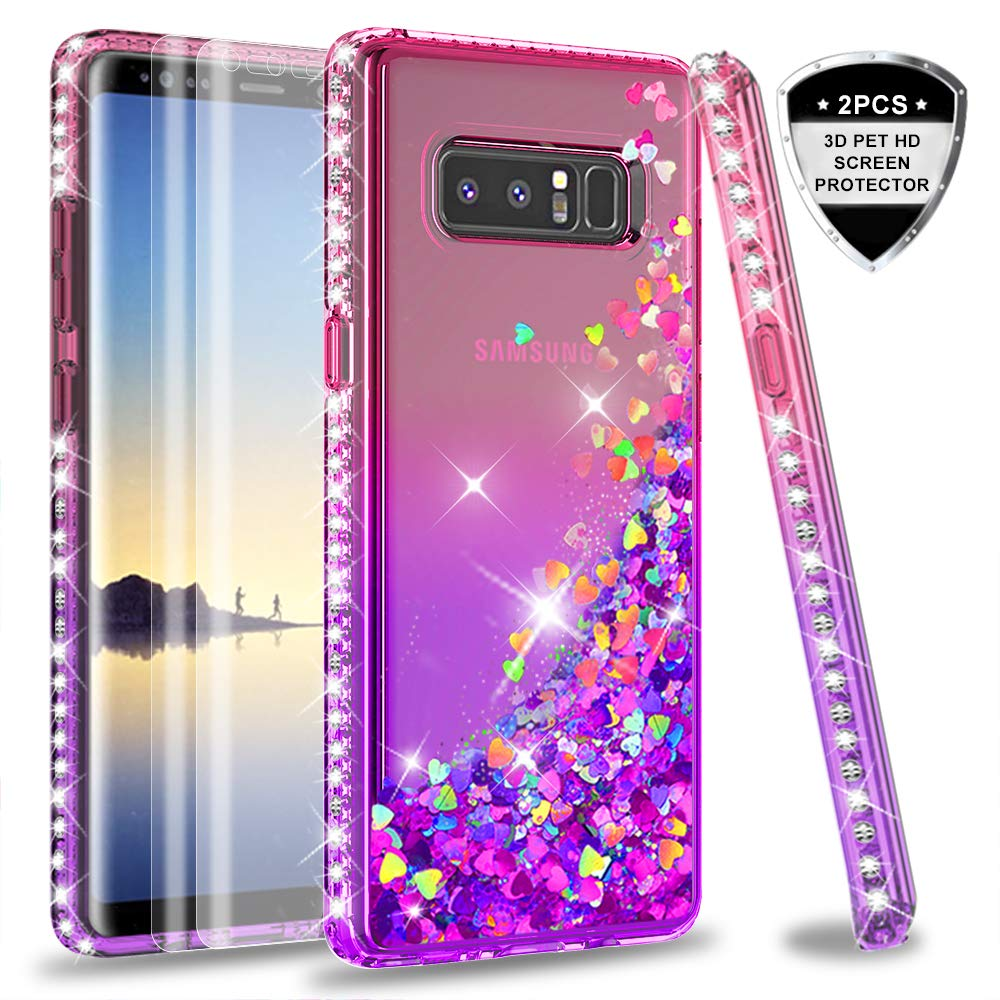 Funda Para Samsung Note 8 Glitter Leyi (7lg3p5cl)