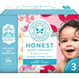 The Honest Company Club Box Diapers with TrueAbsorb Technology, Rose Blossom & Strawberries, Size 3, 68 Count