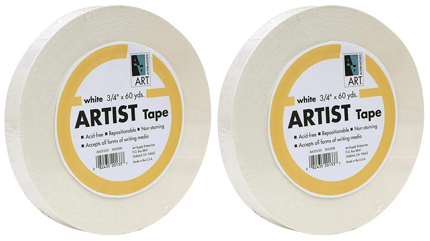 Economy White Artists Tape 3/4In X 60Yds by Art Alternatives MACPHERSON AA20133