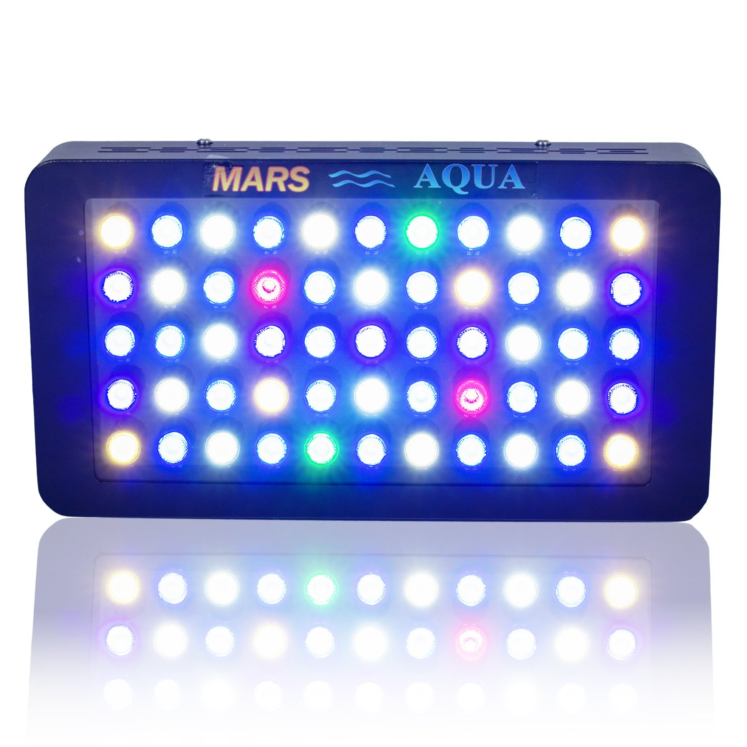 MarsAqua Dimmable 165W LED Aquarium Light Lighting Full Spectrum For Fish Freshwater and Saltwater Coral Tank Blue and White LPS/SPS