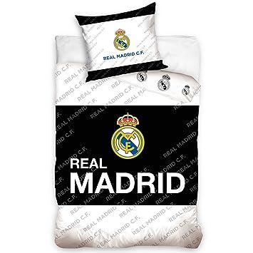 Real Madrid Bettwäsche Baumwolle Schwarzweiß 27 X 39 X 4 Cm