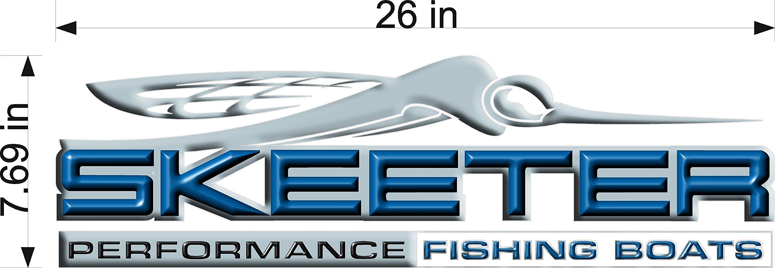 8x26'' Skeeter 3D Boats Logo Decal BLUE