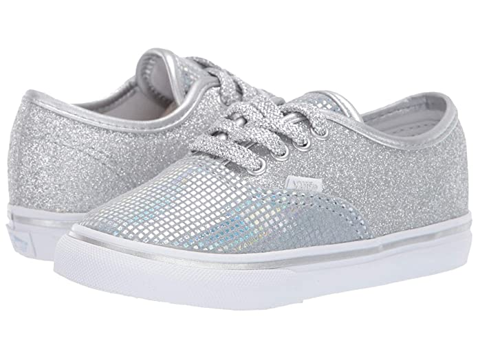 c5b9f1fe59c1 Amazon.com: Vans VN-0A38E7UJ0: Boys Authentic Metallic Glitter Silver  Sneakers: Shoes