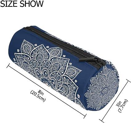 TIZORAX Hippie Henna - Estuche para lápices de mandala, con cremallera, organizador de monedas, cosméticos, para mujeres, adolescentes, niñas, niños: Amazon.es: Oficina y papelería