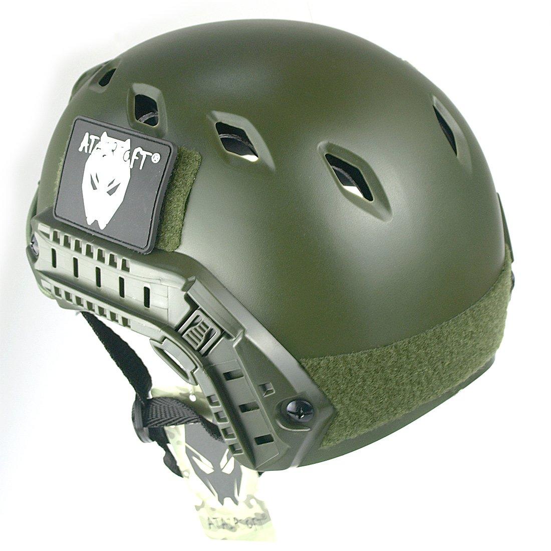 ATAIRSOFT Tactique SWAT style militaire de larm/ée de Casque Combat rapide BJ Base Jump avec lunettes de protection OD vert pour CQB Tir Airsoft Paintball
