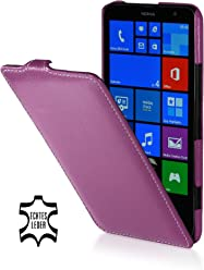 StilGut UltraSlim Case, custodia in vera pelle per Nokia Lumia 1320, porpora