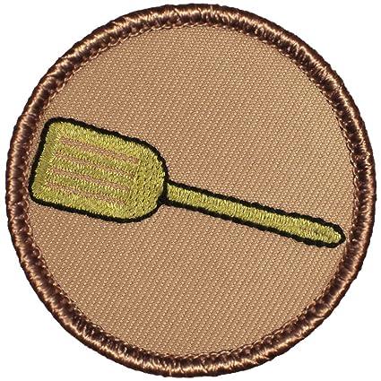 amazon com golden spatula patrol patch 2 diameter round