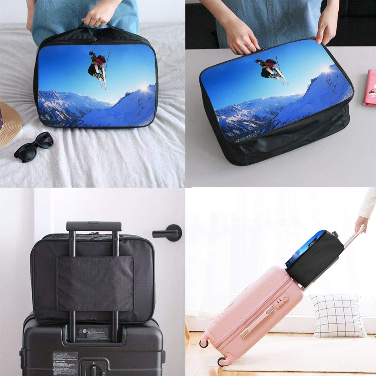 Travel Luggage Duffle Bag Lightweight Portable Handbag Skiing Snow Mountain Large Capacity Waterproof Foldable Storage Tote