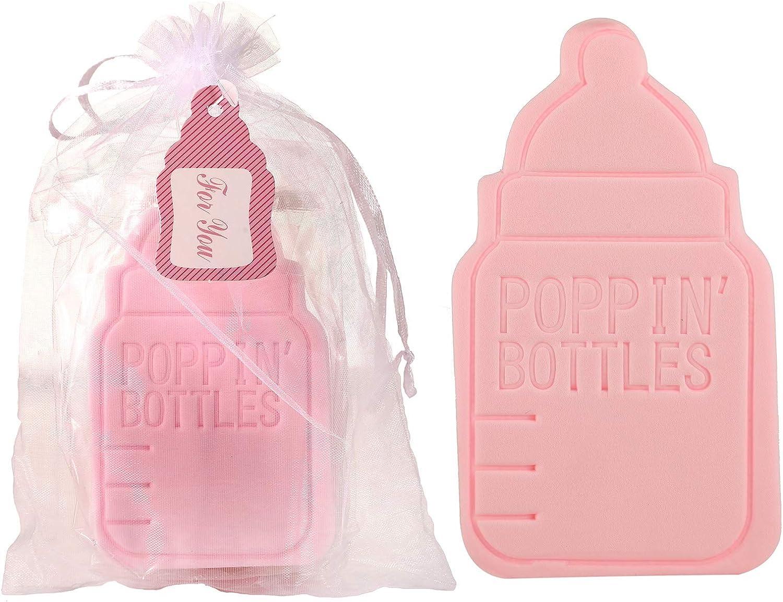 12-Pack Soft Bath Sponge for Men Women Kids,POPPIN'BOTTLES Bath Sponge Baby Shower Favor/Souvenirs for Guests,Party Favor for Wedding,Bridal Shower Birthday (12-Pack, Pink): Health & Personal Care