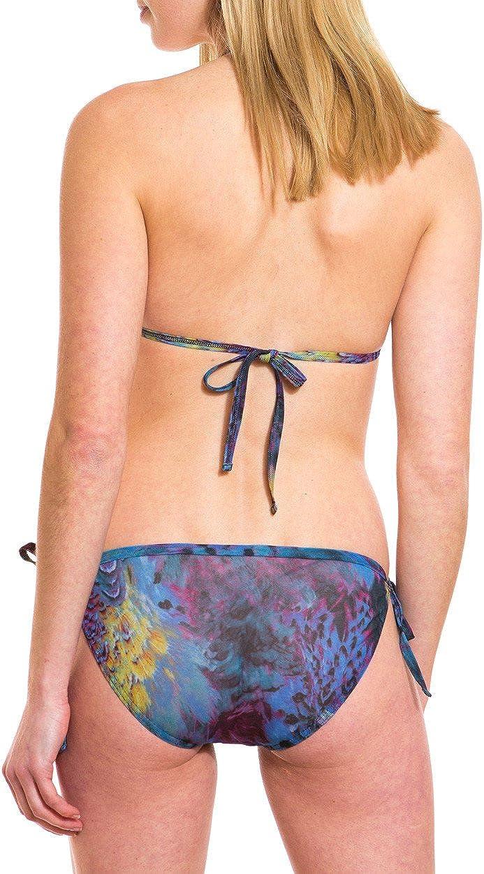 Kiniki Amalfi Blue Tan Through Tie Side Bikini Tanga Swimwear