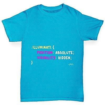 TWISTED ENVY CSS Pun Illuminati Boy's Printed Cotton T-Shirt