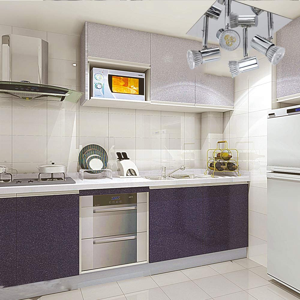 Schwenkbar Baddeckenleuchte mit 4x 5W GU10 Fassungen Rechteckige Deckenstrahler Modern Wohnzimmer LED Deckenspot f/ür K/üche Flur Schlafzimmer LED 4-flammige Deckenleuchte