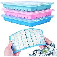 Wanap 3 stuks ijsblokjesvorm siliconen, 36-vaks ijsblokjeshouder om in te vriezen, 108 ijsblokjes voor koelkast…