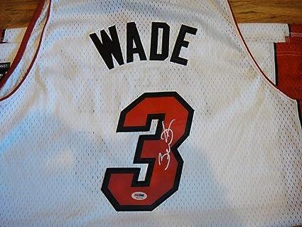 on sale a7992 9075c Dwyane Wade Memorabilia PSA/DNA Autographed Signed Adidas ...