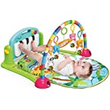 Techhark Kick and Play Multi-Function ABS High Grade Plastic Piano Baby Gym and Fitness Rack, 50 x 37.2 x 8.4 cm (Green)